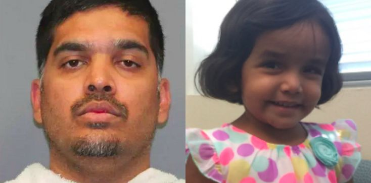 """The adoptive father of a missing Texas toddler now says she died after he """"physically assisted the 3-year-old girl"""" in drinking a glass of milk on October 7, according to a recently released police affidavit."""