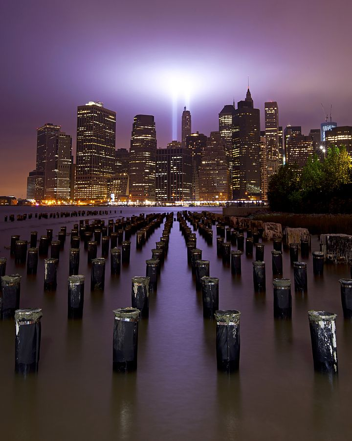 NYC 911 Tribute in lights