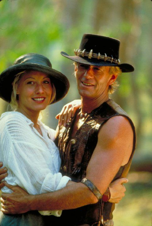 Paul Hogan and Linda Kozlowski in 'Crocodile' Dundee II (1988)