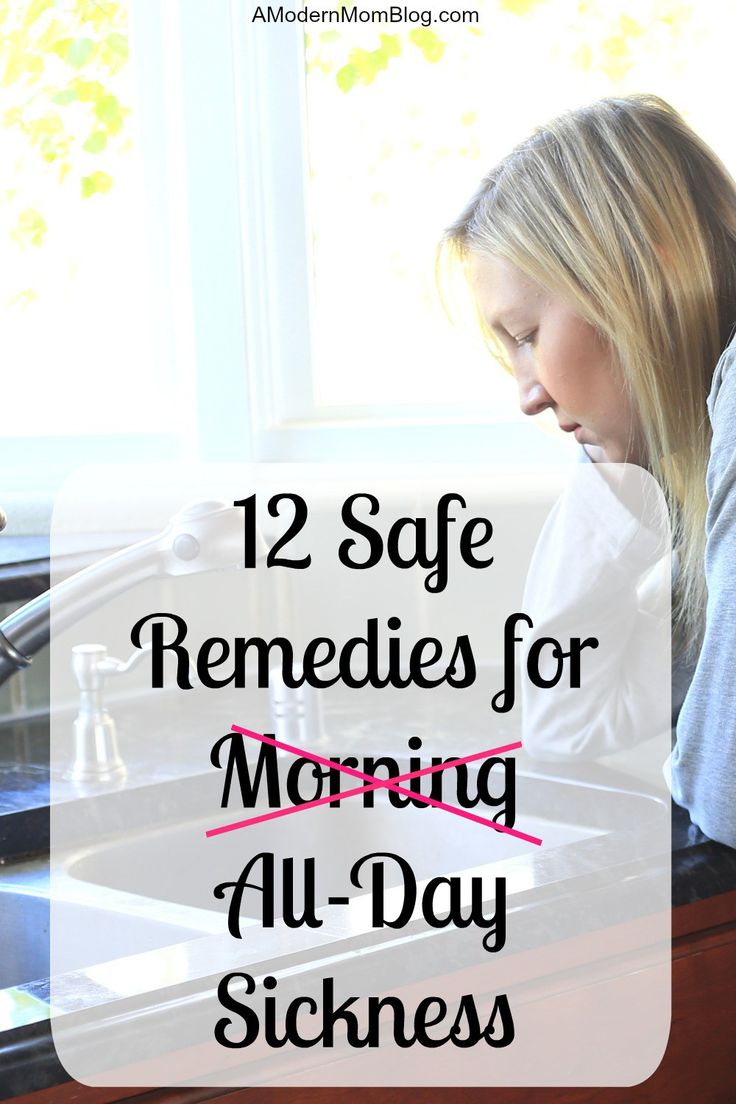Find the best remedies for morning sickness or even all day sickness. Twelve safe remedies to help through nausea in pregnancy