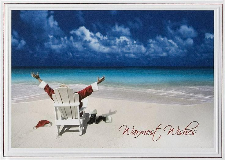 13 Best Beach Christmas Cards Images On Pinterest