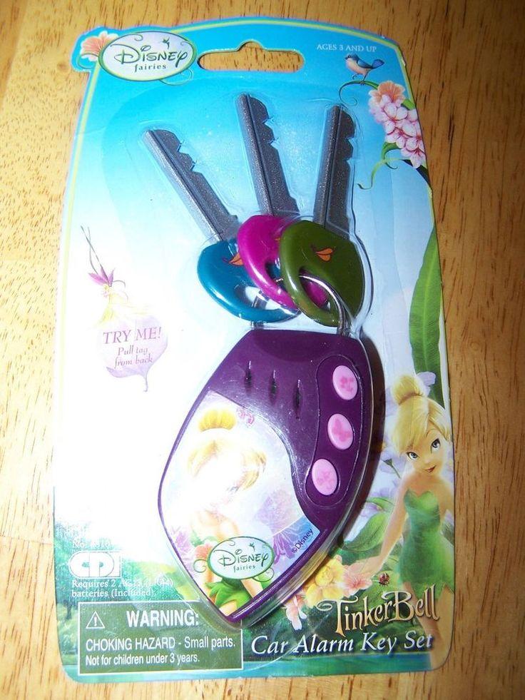 NEW Disney Fairies Tinkerbell Toy Car Alarm KEY Set GIRLS Toddler REAL SOUNDS #Disney