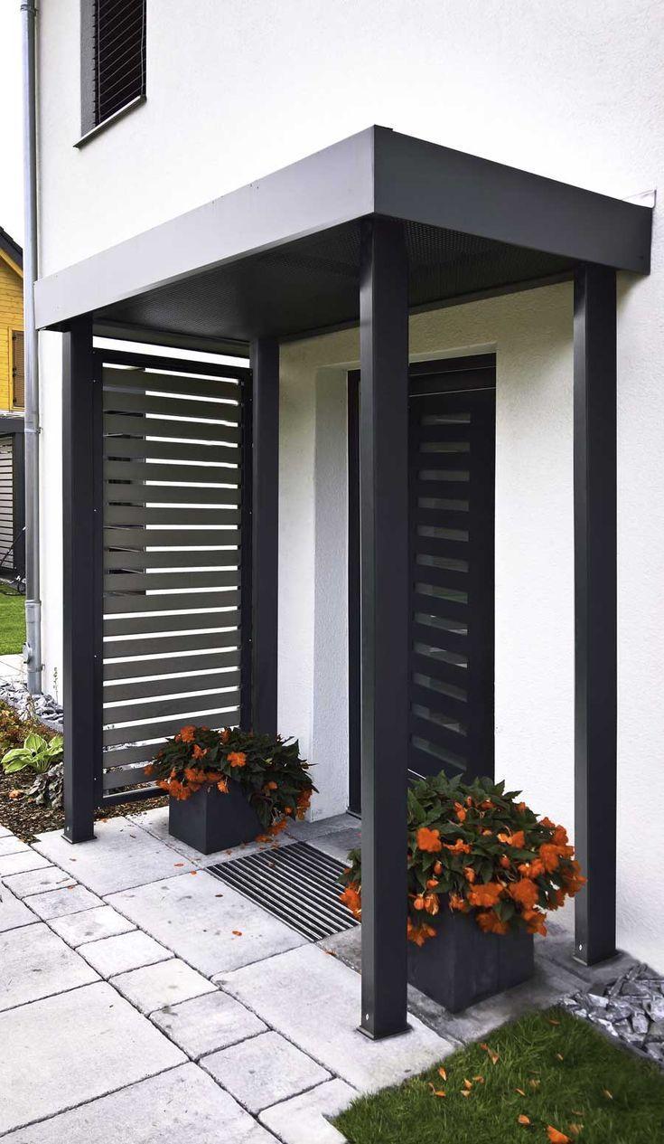 Vordach eingangs berdachung d coration ext rieure porche maison porche entr e maison et - Maison avec porche d entree ...
