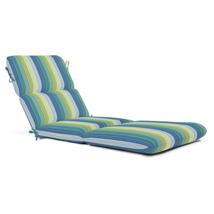 Casual cushion sunbrella striped chaise outdoor cushion