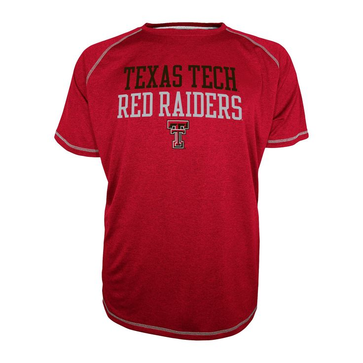 NCAA Texas Tech Red Raiders Men's Raglan T-Shirt - Red S