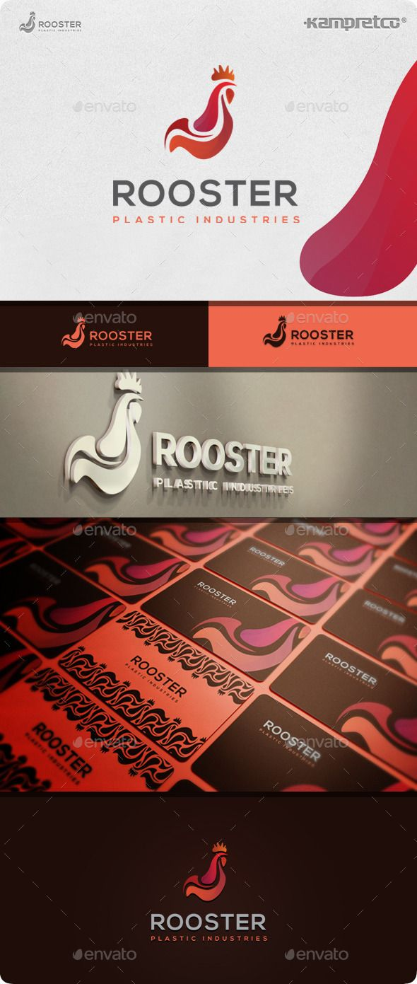 Chicken Rooster  Logo Design Template Vector #logotype Download it here: http://graphicriver.net/item/chicken-rooster-logo/10608388?s_rank=1193?ref=nexion