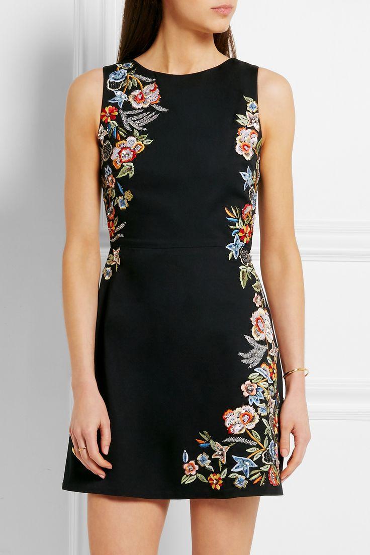 ALICE + OLIVIA Malin embellished stretch-cotton mini dress  €580.00 https://www.net-a-porter.com/product/677266