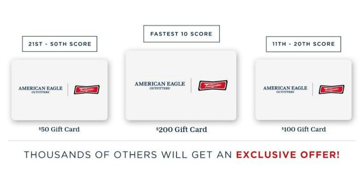 """!!! Claim your American Eagle Gift Cardfrom Quikly!! Click on the link above and opt in. Then you'll receive a text message to claim you freebie when it goes live. Share your link to get notified early, so you can get a head start and notified up to 99 minutes before everyone else! … Continue reading """"American Eagle Gift Cards are up for grabs!"""""""
