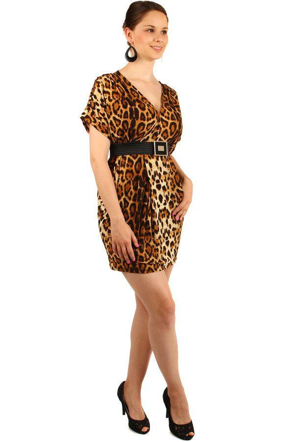 e75d2fe1b7a7 Krátké dámské tygrované šaty s páskem - koupit online na Glara.cz   letnisaty  damskesaty  dámskéšaty  glara  fashion  letníšaty  šaty  saty