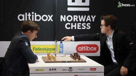 Former world chess champion Vladimir Kramnik pranks current world chess champion Magnus Carlsen