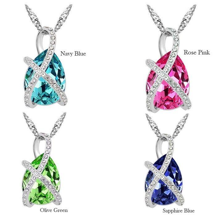 Temukan dan dapatkan Kalung Swarovski Crystal Elements Water Drop Pendant hanya Rp 200.000 di Shopee…