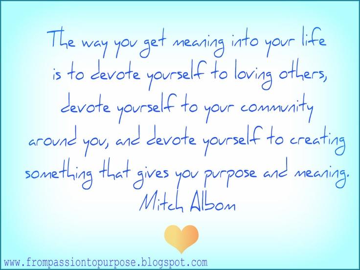 Mitch Albom Quote