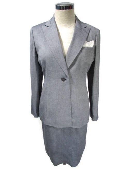 Women's Skirt Suit 4 Petite 4P Le Suit Light Blue #LeSuit #SkirtSuit
