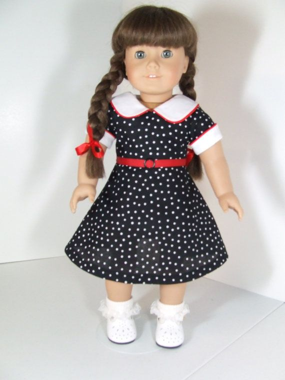 dress and apron american made for girls 18 dolls american girl molly american girls and apron. Black Bedroom Furniture Sets. Home Design Ideas