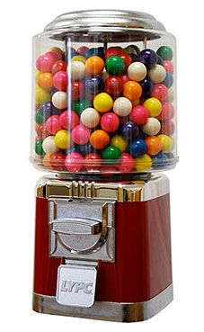 Classic Vending Machine with stand 1002 $65, 1 inch acorn capsule