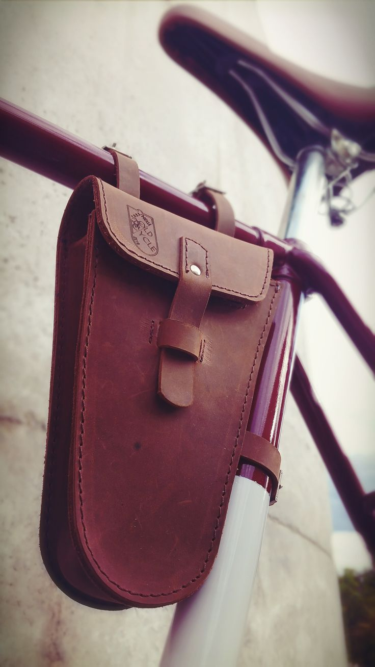 YOUR NEW OLD CYCLE  Handmade leather Bicycle Frame bag  info:  yournewoldcycle@gmail.com   Price 49 EUR