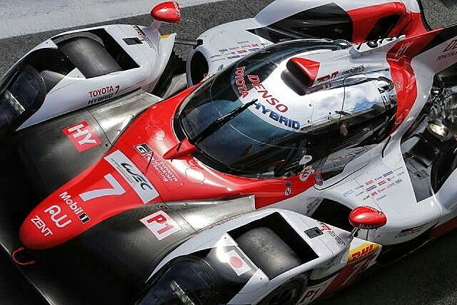 2017 Le Mans 24 - Toyota TS050.  After locking out the front row at qualifying for Le Mans and winning the first two WEC races, Toyota is a clear favorite for Le Mans. #ToyotaGazoo