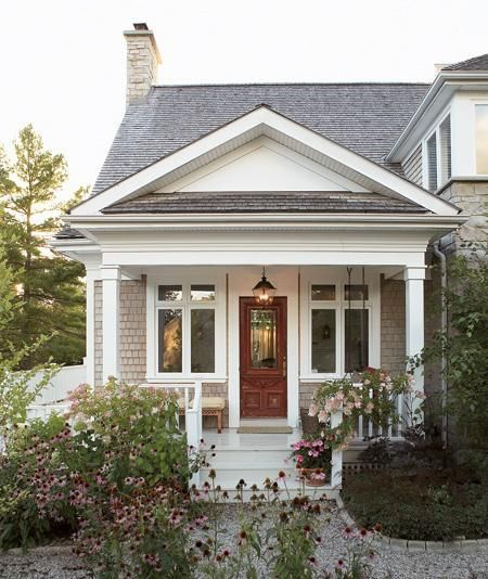 Pretty porch and front door.