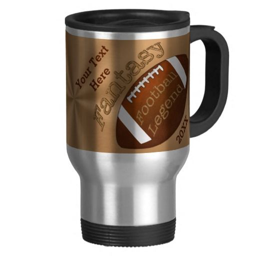 Personalized Fantasy Football Gifts Ideas. Stainless Steel Fantasy Football Mug with the winner's Name or Your Text and the Year or any other custom text. CLICK: http://www.zazzle.com/personalized_fantasy_football_gifts_ideas_mug-168562522721648250?rf=238147997806552929* Fantasy Football Trophy Cup for the Fantasy Football Legend Champion of all. See more Personalized Football Gifts Here: http://www.zazzle.com/littlelindapinda/gifts?cg=196532339247083789&rf=238147997806552929*   239-949-9090