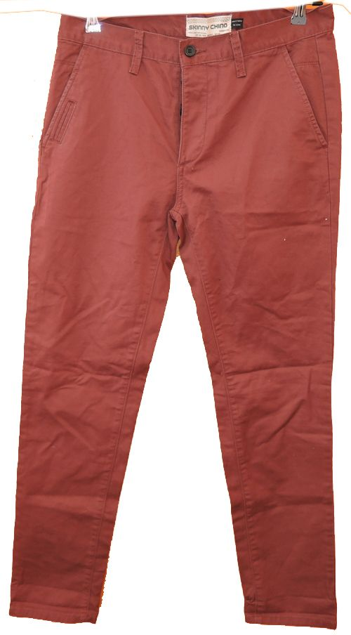 BRUMLA.CZ – Značkový dětský a dospělý second hand a outlet, použité oděvy pro děti a dospělé - Pánské vínové riflové skinny chino kalhoty zn. Topman vel. 34L