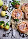 Яблочные пончики( берлинеры)