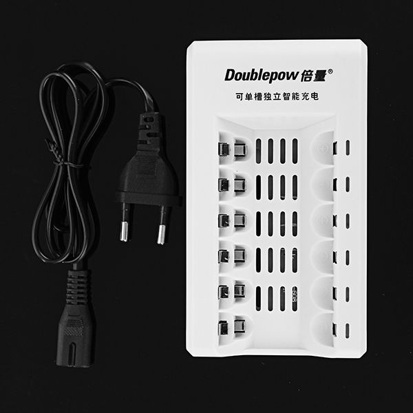Doublepow K206 6 Slot Aa Aaa Rechargeable Battery Charger Batteries Chargers From Electronics On Banggood Com Rechargeable Battery Charger Rechargeable Batteries Charger