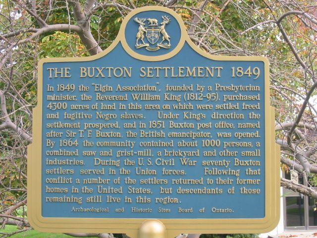 The Buxton Settlement 1849