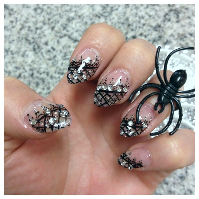 148 best lace nail designs images on Pinterest | Lace nail design ...