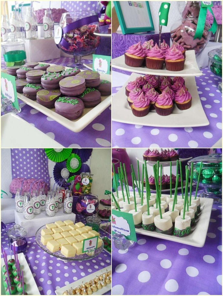 Barney Party Food Ideas