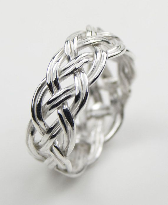 Sterling Silver Open Woven Ring on Etsy