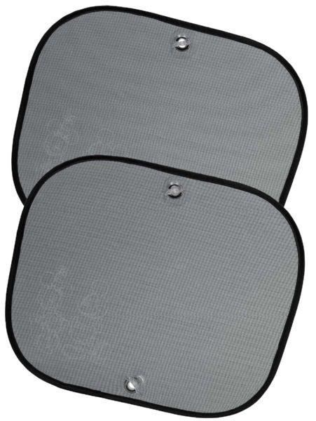 Mikki Hiiri -häikäisysuojat (2 kpl) suojaavat auringolta auton takapenkillä. Pakkaus sisältää kaksi aurinkosuojaa ja imukupit kiinnitystä varten. Sopii kaikenlaisiin autoihin. Koko 44 x 35 cm.