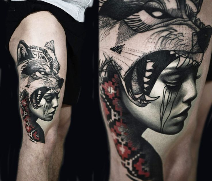 Lovely Lone Wolf Tattoos In Different Styles 2018: 25+ Best Ideas About Woman Face Tattoo On Pinterest