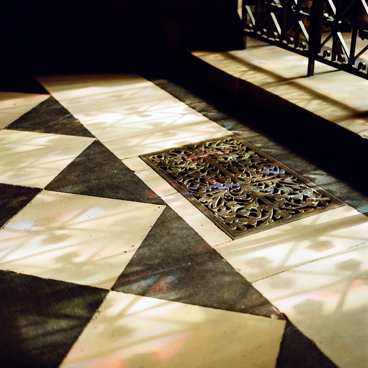 light from the stain glass, Notre Dame