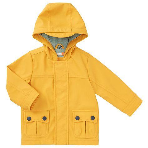 Buy John Lewis Baby Water Resistant Rain Jacket, Yellow Online at johnlewis.com