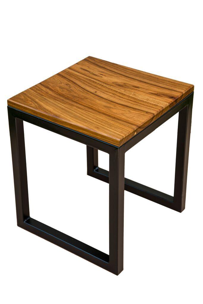 Kiaat wood side table
