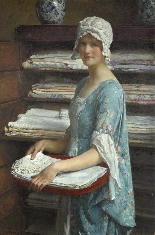 William Henry Margetson (1860-1940), is a British painter noted for his pictures of very beautiful girls, typically alone and large on the canvas,