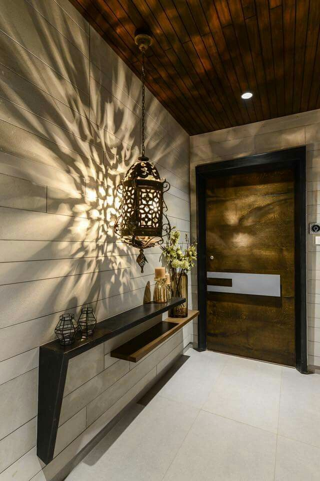 Skinny ledge over another with interesting shadow cast by l& to break up a long passageway & Best 25+ Main door ideas only on Pinterest | Main entrance door ... Pezcame.Com