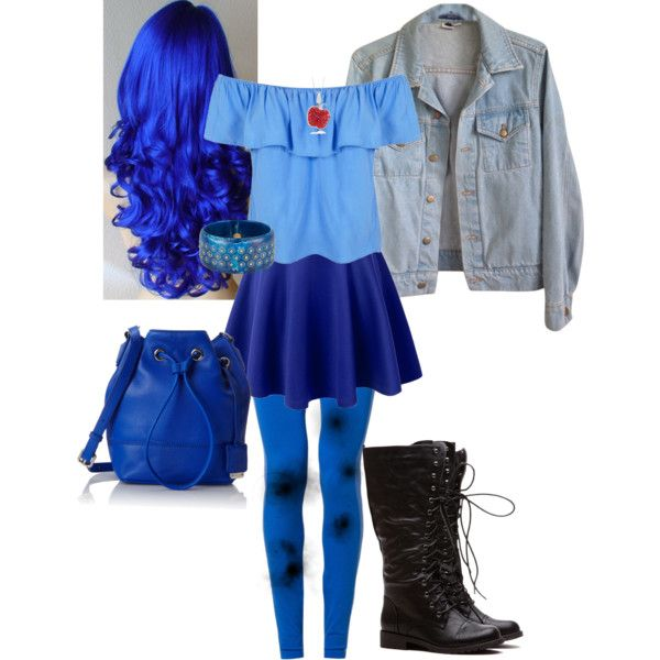 Evie (Disney's Descendants) by forget-me-notz on Polyvore featuring Miss Selfridge, American Apparel, NIKE, Kenneth Cole and Mark Davis