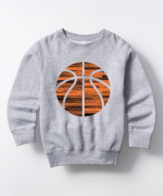 Athletic Heather Basketball Crewneck Sweatshirt - Toddler & Kids