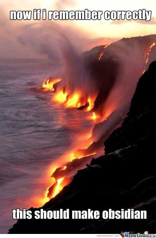 Incorrect. The lava is flowing on top of the water, and that would make smooth stone. If the water flows on top of the lava, that will make obsidian.