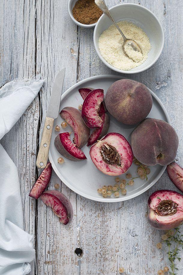 Peach Galette ! Food and Cook Galette de melocotones y grosellas