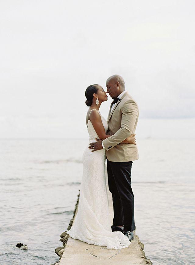 Romantic Chic Beachfront Wedding in Aventuras, Mexico: Lori + Kaci