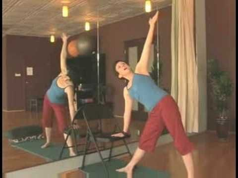 Chair Yoga for Seniors : Chair Yoga for Seniors: Triangle Pose - YouTube