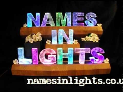 Names In Lights - JUNE Prize Draw  This is the thing to repin to enter the Names In lights free monthly draw.