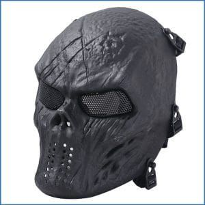 Coxeer Tactical Airsoft Mask Overhead Skull Mask Outdoor Hunting