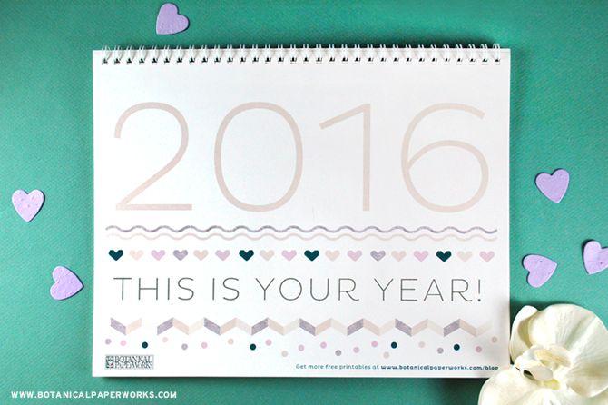 Calendrier 2016 à imprimer