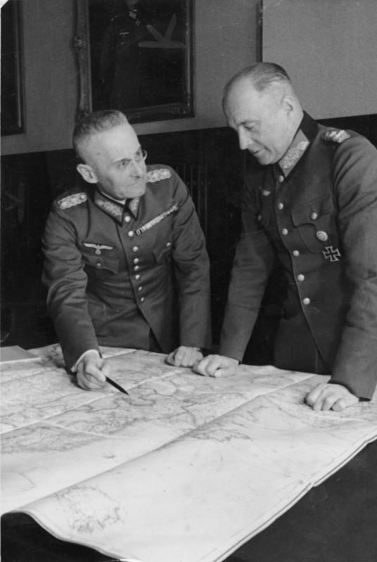 Field Marshal Walther von Brauchitsch and Franz Halder