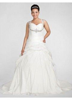 Glamorous Ball Gown Sweetheart Chapel Train Taffeta Plus Size Wedding Dress   Cd Dress -- Internet resource for bridal gowns, jewelry and accessories.   www.cddress.com    Please mention that you found them thru Jevel Wedding Planning's Pinterest Account.  Keywords: #plussizeweddinggowns #jevelweddingplanning Follow Us: www.jevelweddingplanning.com  www.facebook.com/jevelweddingplanning/