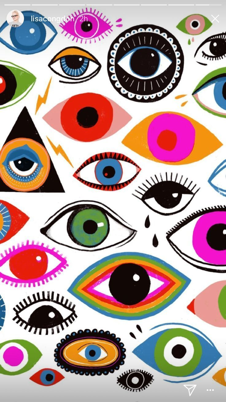 Lisa Congdon Eye Illustration Eyes Wallpaper Psychedelic Art