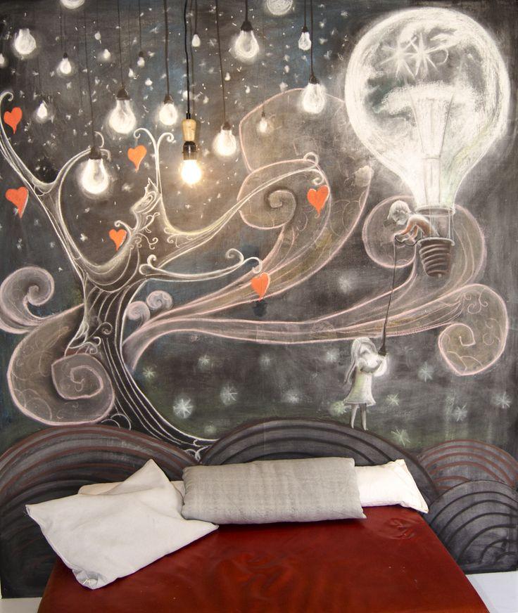 decorazione su muro  www.kisse.it